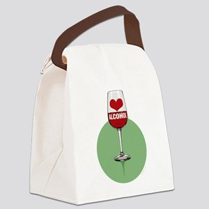 Wine: [love/heart] alcohol Canvas Lunch Bag